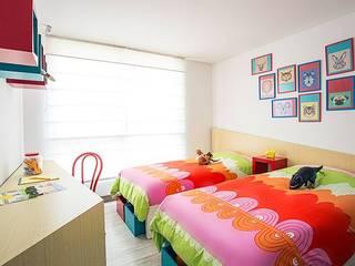 Apto Felisa Habitaciones para niños de estilo moderno de Maria Mentira Studio Moderno