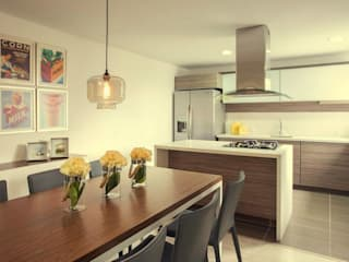 Cocinas de estilo moderno de Maria Mentira Studio Moderno Aglomerado