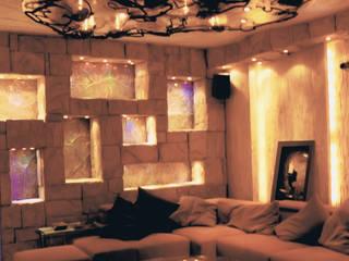 Кинозал на цокольном этаже частного дома:  в . Автор – Строев Михаил, Эклектичный
