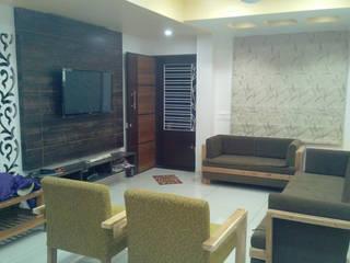 Residence in Vadodara Modern living room by Swastik Modern