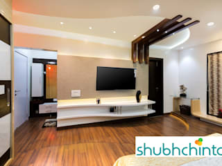 master bed T.V. Unit:  Bedroom by shubhchintan
