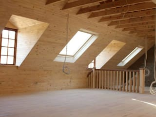Loft room , staircase and Velux roof windows:  Dressing room by Loftspace
