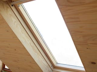 Loft room , staircase and Velux roof windows:  Bathroom by Loftspace