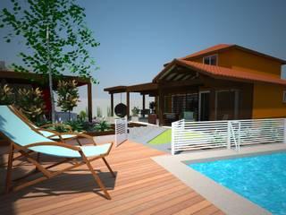 Modern style balcony, porch & terrace by DIMA Arquitectura y Construcción Modern