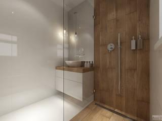 Baños de estilo escandinavo por PRØJEKTYW | Architektura Wnętrz & Design