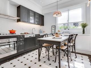 爾聲空間設計有限公司 Kitchen Solid Wood White