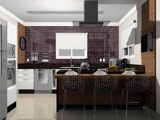 Projeto de Interiores - Cozinha - Taubaté / SP por Fernanda Marcondes Arquitetura & Interiores
