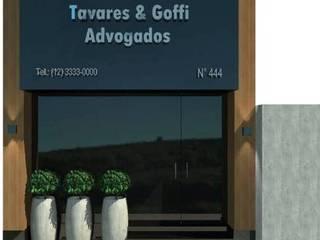 Projeto de Interiores - Escritório de Advocacia - Taubaté / SP por Fernanda Marcondes Arquitetura & Interiores
