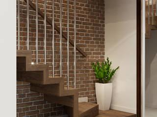 Pasillos, vestíbulos y escaleras de estilo escandinavo de PRØJEKTYW | Architektura Wnętrz & Design Escandinavo