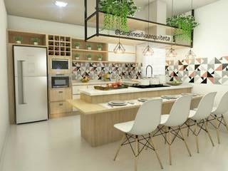 Projeto de Cozinha CS1 Cozinhas modernas por Caroline Silva Arquitetura e Interiores Moderno