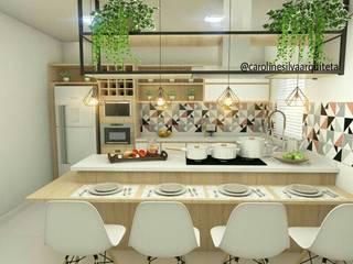 Projeto de Cozinha CS1: Cozinhas  por Caroline Silva Arquitetura e Interiores