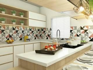Projeto de Cozinha CS1:   por Caroline Silva Arquitetura e Interiores