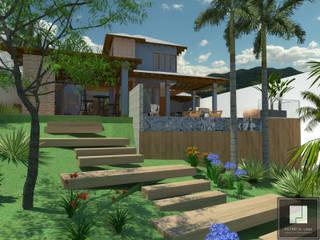 PROJETO ASMAR Jardins rústicos por Patrícia Lima - Arquitetura e Design Rústico