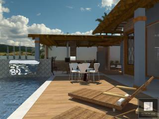 PROJETO ASMAR Casas rústicas por Patrícia Lima - Arquitetura e Design Rústico