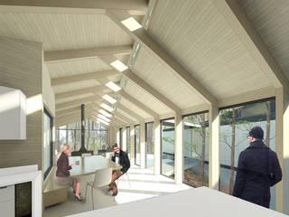 Pasillos, vestíbulos y escaleras de estilo moderno de GAALGO Arquitectos Moderno