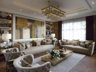 living room+dining من m.frahat حداثي