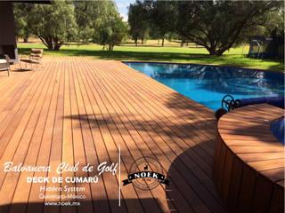 DECK DE MADERA DE CUMARÚ: Terrazas de estilo  por Noek Pisos de Madera y Carpintería