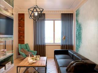 ЖК Barkli Residence: Гостиная в . Автор – Happy Design