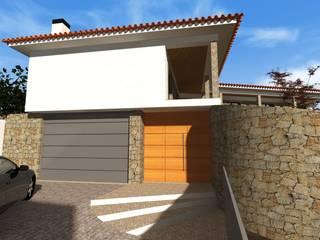 Moradia Tradicional - Braga Casas rústicas por Esboço Arq. Rústico