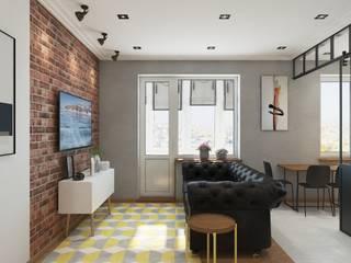 Квартира на Угловом переулке: Гостиная в . Автор – Happy Design