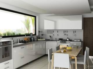 V Arquitectura Modern Kitchen White