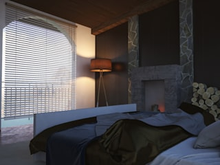 V Arquitectura Country style bedroom White