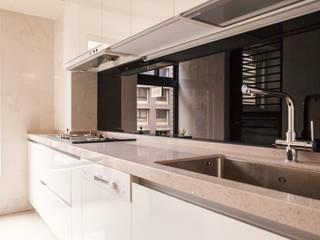 双設計建築室內總研所 ห้องครัว