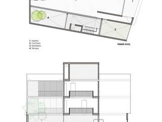 Casa Bernal: Anexos de estilo minimalista por POMAC Arquitectos
