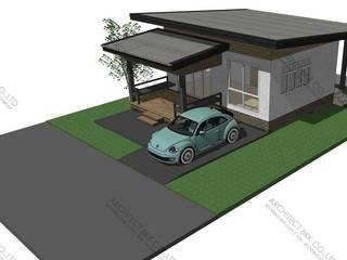 5 แบบบ้านชั้นเดียว ฟรี 2560 สไตล์ Modern, Resort, Tropical โดย บริษัท อาร์คิเทค บีเคเค จำกัด