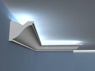 Listwy oświetleniowe ścienne LED: styl , w kategorii Salon zaprojektowany przez Decor System