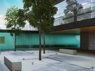 UFFICI E PRODUZIONE Studio moderno di Studio di architettura Alberto Antoni Moderno
