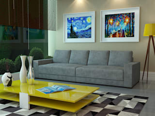 Alvaro Camiña Arquitetura e Urbanismo Modern Living Room