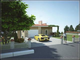 Современный коттедж Дома в эклектичном стиле от Pugachev Design PRO Эклектичный