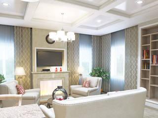 Жилой дом в хуторе Ленина (Краснодар): Гостиная в . Автор – Pugachev Design PRO