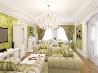 Квартира в ЖК «Оскар»: Гостиная в . Автор – Pugachev Design PRO