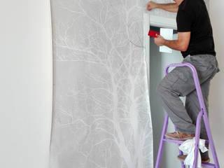Gli Alberi - Rivestimento murale su misura:  in stile  di Dimore - oggettieprogetti