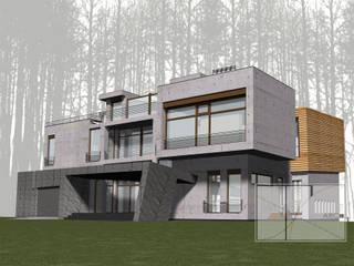 Архитектурная Мастерская Георгия Пряничникова Maisons minimalistes