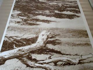 Gli Alberi II - Rivestimento murale su misura:  in stile  di Dimore - oggettieprogetti