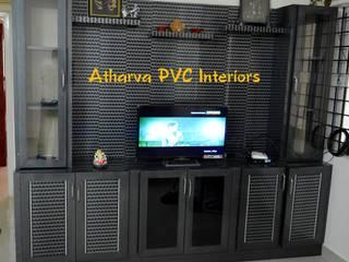 PVC TV Cabinets & Showcases: modern  by Atharva PVC Interiors,Modern