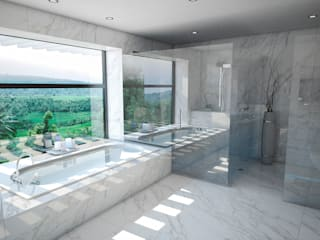Baño Baños modernos de Vivian Dembo Arquitectura Moderno Mármol