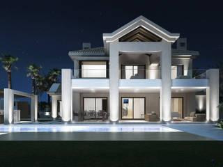 Villa de Lujo | Marbella Club Casas de estilo minimalista de DIKA estudio Minimalista