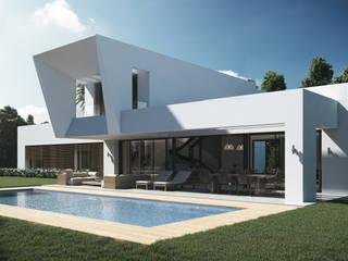 Villas en la Costa del Sol (Diseño interior en infografías) Casas de estilo moderno de DIKA estudio Moderno