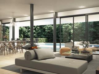 Villas en la Costa del Sol (Diseño interior en infografías) Comedores de estilo moderno de DIKA estudio Moderno
