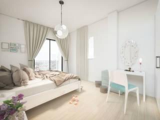 Apartamentos en Tarifa (Infografías y diseño interior) Dormitorios de estilo mediterráneo de DIKA estudio Mediterráneo