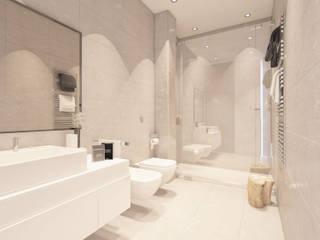 Apartamentos en Tarifa (Infografías y diseño interior) Baños de estilo mediterráneo de DIKA estudio Mediterráneo
