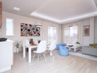 Apartamentos en Tarifa (Infografías y diseño interior) Comedores de estilo mediterráneo de DIKA estudio Mediterráneo