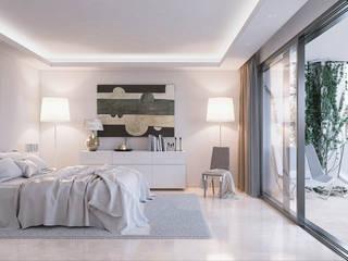 Villas en Altos de Puente Romano Dormitorios de estilo minimalista de DIKA estudio Minimalista