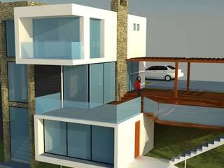 VIVIENDA EN CASABLANCA: Casas de estilo moderno por H2H arquitectos