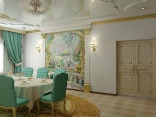Дизайн столовой Столовая комната в классическом стиле от Цунёв_Дизайн. Студия интерьерных решений. Классический