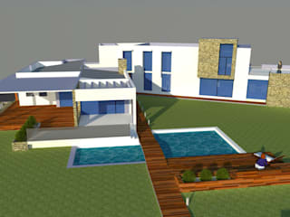 Casas de estilo  por H2H arquitectos